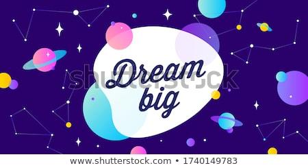 Sonho grande motivação bandeira balão de fala nunca Foto stock © FoxysGraphic