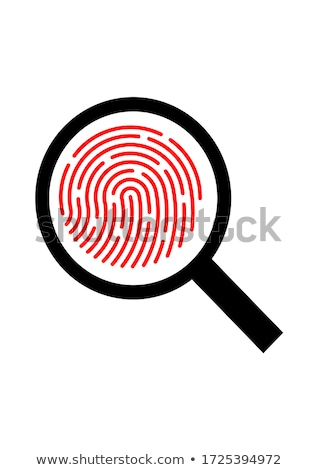 Identificação criminal vidro vítima crime projeto Foto stock © jossdiim