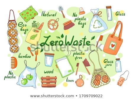 Set Null Abfälle Elemente Kritzeleien keine Stock foto © robuart