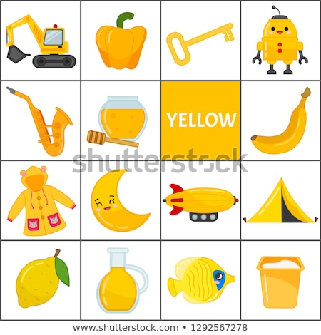 basic colors color book with robot characters Stock photo © izakowski