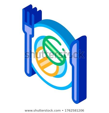 Isometrische icon vector Stockfoto © pikepicture