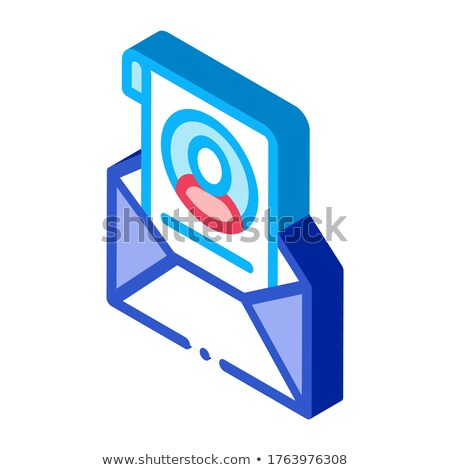 Envelope with Voter Information Sheet isometric icon vector illustration Stock photo © pikepicture