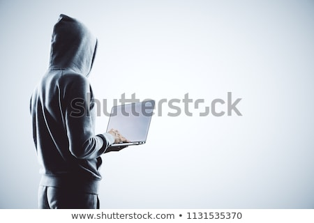 Mysterious hacker, online attack concept Stock photo © ra2studio