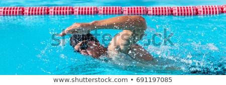 Zwemmer man sport opleiding zwembad professionele Stockfoto © Maridav