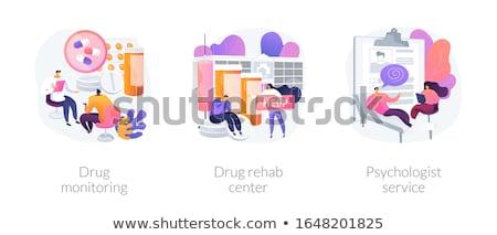 Drug monitoring abstract concept vector illustration. Stock photo © RAStudio