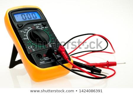 digital multimeter on white background stock photo © oneo