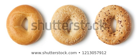 Бублики · сэндвич · салями · белый · пластина · продовольствие - Сток-фото © joker