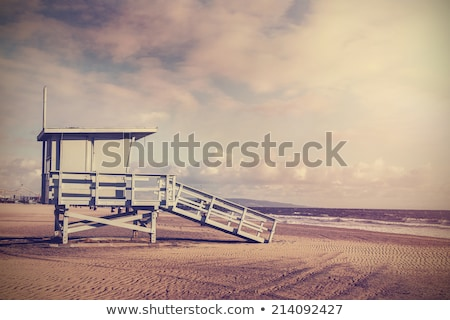 Vide stand plage bois ciel bleu ciel Photo stock © KonArt
