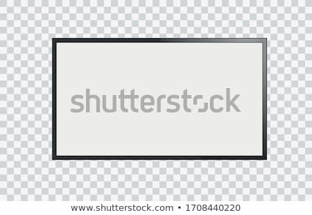 grande · quadro · de · imagem · velho · isolado · branco - foto stock © adamr
