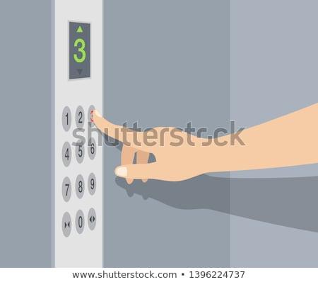 лифта Кнопки изображение черный знак красный Сток-фото © mehmetcan