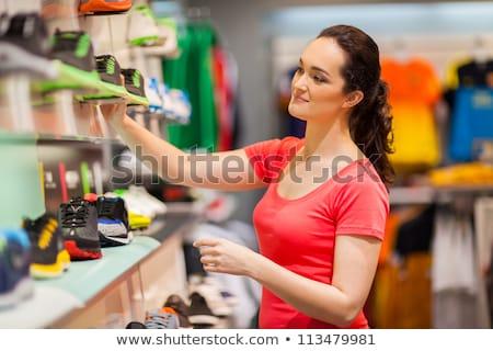 Részleg nők ruházat cipők bolt nő Stock fotó © Paha_L