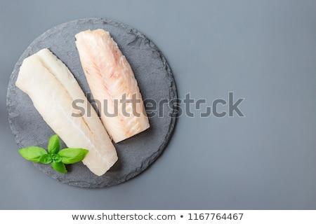 Filé sonka zöldség mártás vacsora eszik Stock fotó © pedrosala