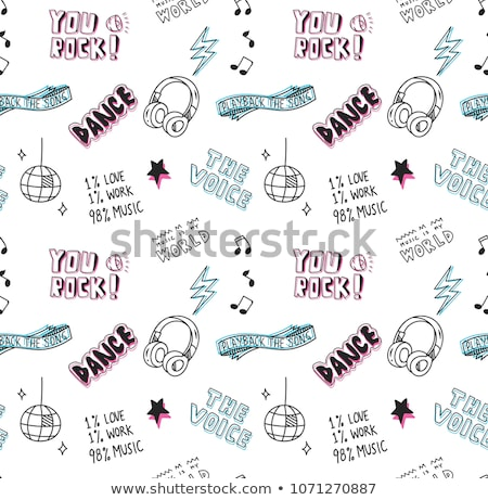 abstract music theme with disco ball stock photo © pathakdesigner
