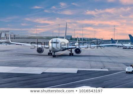 Delta aviões branco projeto vento motor Foto stock © njaj