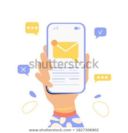 Wpisując komórka człowiek biznesu telefonu biznesmen garnitur Zdjęcia stock © leeser