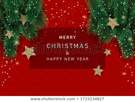 Stock photo: Vector Abstract Christmas Card With Season Words
