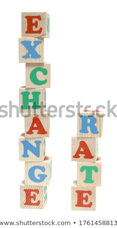 euro money in toy play block letters Stock photo © morrbyte