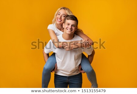 Man carrying a girl on his back Stock photo © photography33