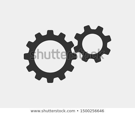 Dişli büyük Metal dişliler çelik teknoloji Stok fotoğraf © ddvs71