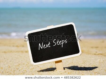 Next written on blackboard Stock photo © bbbar