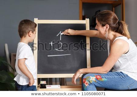 домашнее задание доске черный копия пространства школы Сток-фото © dehooks