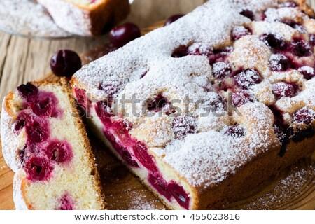 Cherry Pound cake Stock photo © fotogal