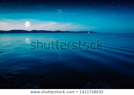 sailboat and moon Stock photo © njaj