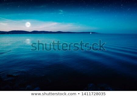 lua · oceano · lua · cheia · água · abstrato - foto stock © njaj