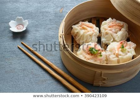 kínai · dim · sum · párolt · eszik · főzés · ebéd - stock fotó © beemanja