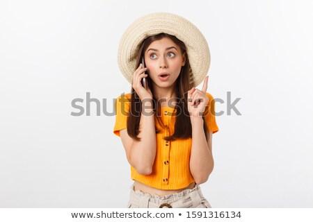 vrolijk · vrouw · verbazingwekkend · haren · dame · meisje - stockfoto © konradbak