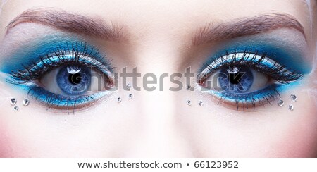 girl's eye-zone bodyart Stock photo © zastavkin