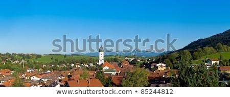 Panoramic view above the roofs of Pfronten im Allgaeu Stock photo © 3523studio