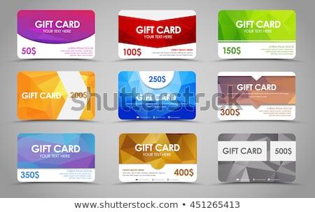 Ajándék kártyák szett izolált fehér boldog Stock fotó © adamson