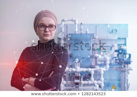 Jovem feminino aprendiz instrutor mulher casa Foto stock © photography33