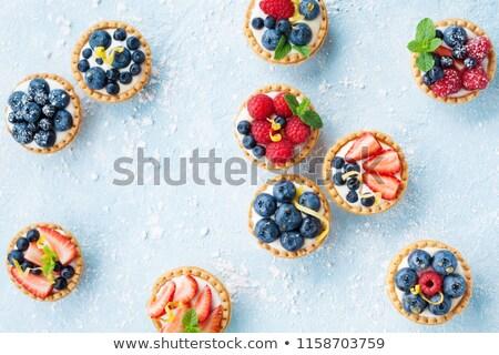 Finom gyümölcs reggeli tábla desszert friss Stock fotó © M-studio