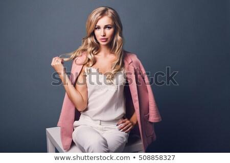 divat · stílus · portré · nő · űr - stock fotó © danielkrol