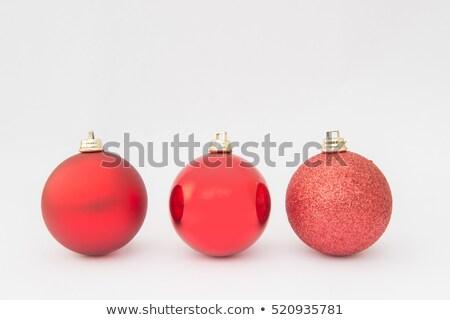 christmas · czerwony · piłka · biały · szkła - zdjęcia stock © Arsgera