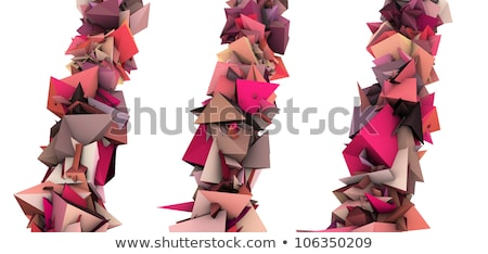 pink 3d abstract growing spiked shape on white Stock photo © Melvin07