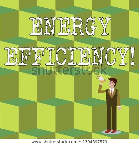 Inşaat işadamı enerji tüketim etiket Stok fotoğraf © photography33