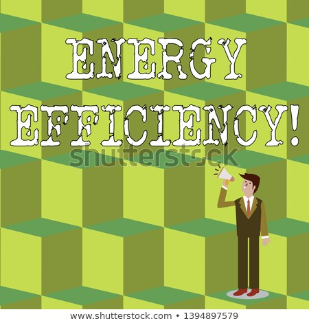 Bouw zakenman energie verbruik label Stockfoto © photography33