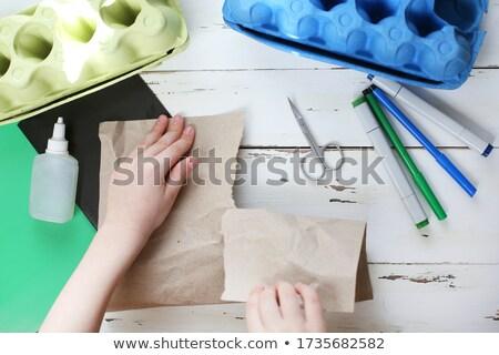 Colagem crianças reciclagem globo crianças assinar Foto stock © photography33