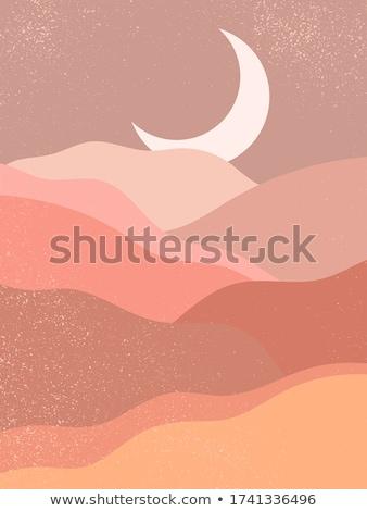 漫画 · 砂漠 · 風景 · 手描き · カラフル · 背景 - ストックフォト © benchart