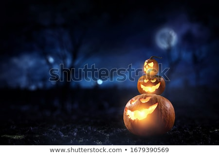 Halloween Moon And Graveyard Stock photo © benchart