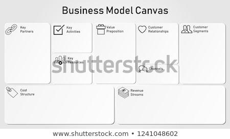 pizarra · negocios · plan · oscuro · palabra · ilustración - foto stock © kbuntu