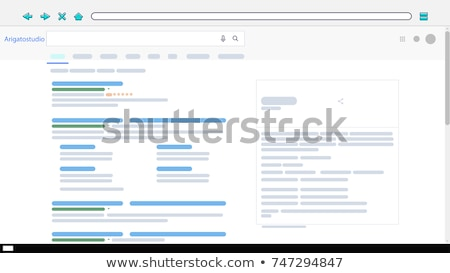 Search Engine Result Pages Stock photo © kbuntu
