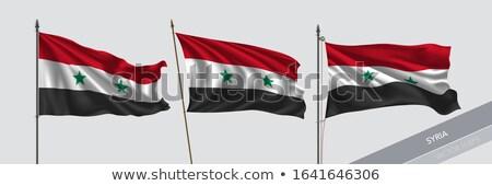 Politiek vlag Syrië wereld land Stockfoto © perysty