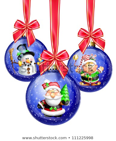 hóbortos · rajz · karácsonyfa · csillag · fények · karácsony - stock fotó © komodoempire