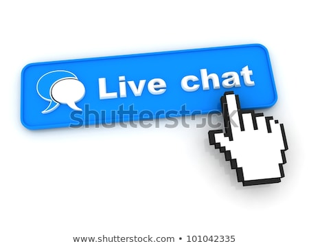 live chat button with hand shaped mouse cursor stock photo © tashatuvango