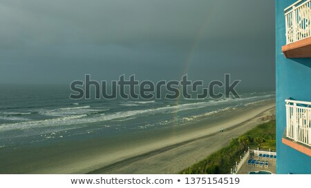 Elképesztő kilátás vihar város tájkép háttér Stock fotó © konradbak