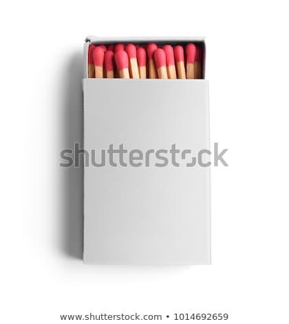 Isolé blanche boîte ouvrir match Photo stock © HectorSnchz